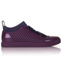 Orb Sneakers With Sock Purple
