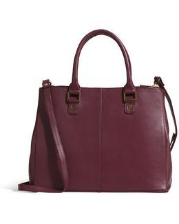 Uptown Leather Satchel