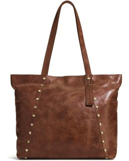 Leather Tooled Tote