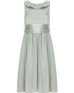 Freya Flower Girl Dress - Dusty Green