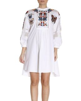 Over Caftan With Precious Embroideries Of Multicolored Butterflies