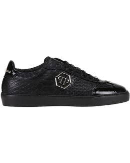 Men's Black Leather Sneakers