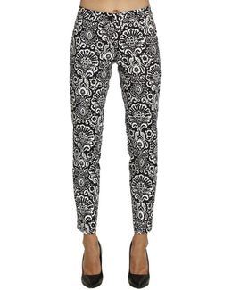 Arabesque Print Cropped Trousers