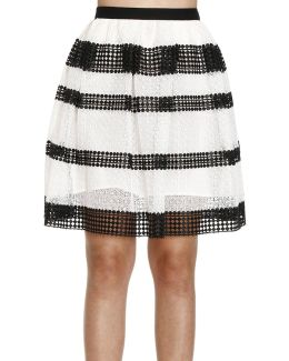 Stripe Panel Skirt