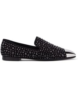 David Studded Suede Loafers