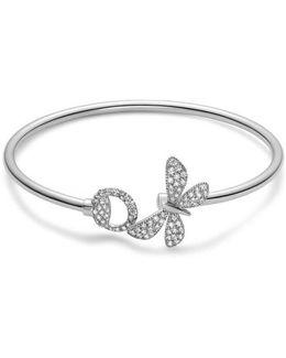 Flora Bracelet In White Gold