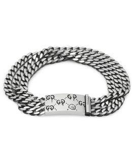 Ghost Multi Chain Bracelet In Silver