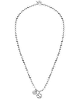 Necklace In Silver With Boule Chain