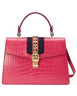 Sylvie Crocodile-leather Shoulder Bag