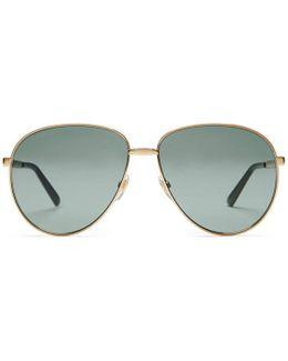 Aviator Sunglasses With Web