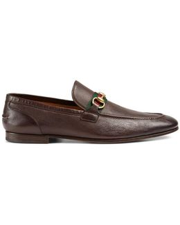 Horsebit Leather Loafer With Web