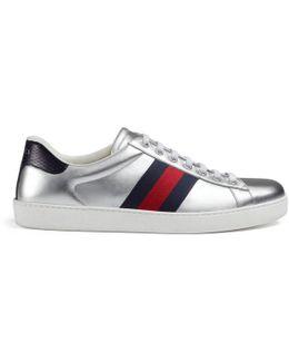 Ace Metallic Leather Low-top Sneaker