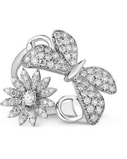 Flora Ring In White Gold