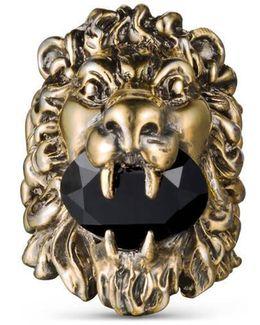 Lion Head Ring With Swarovski