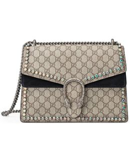 Dionysus Gg Supreme Shoulder Bag With Crystals