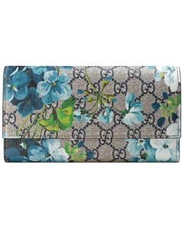 Gg Blooms Continental Wallet