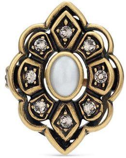 Ring With Swarovski Crystals