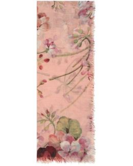 Cashmere Wool Blooms Print Stole