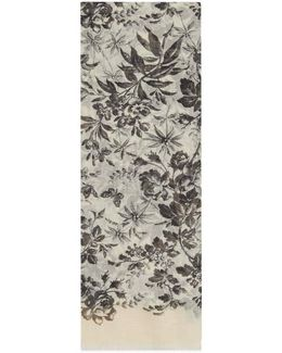 Modal Blend Herbarium Print Stole