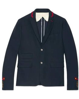 Cambridge Jacket With Embroidery