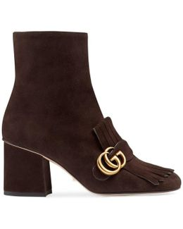 Marmont GG Suede Ankle Boots