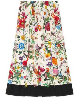 Flora Snake Silk Skirt