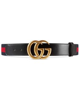 Nylon Web Belt With Double G Buckle
