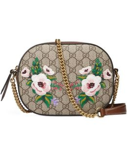 GG Supreme Canvas And Leather Mini Chain Shoulder Bag