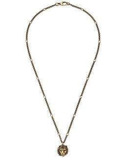 Necklace With Lion Head Pendant