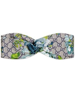 Gg Blooms Print Silk Headband
