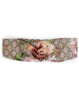 Blooms Print Silk Headband