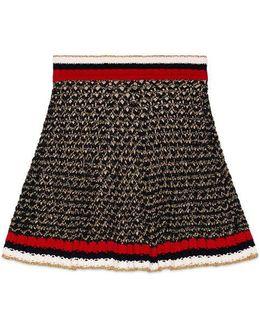 Lurex Blend Skirt With Web