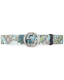 Gg Blooms Belt With G Buckle
