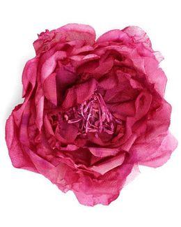Flower Pin In Silk