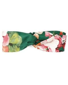 Blooms Print Silk Headband