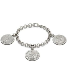Bracelet In Silver With Coin Charms