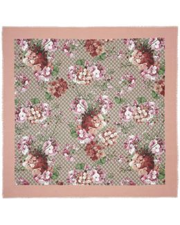 Modal Silk Blooms Print Shawl