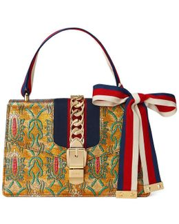 Sylvie Multicolor Brocade Shoulder Bag