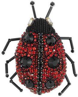 Ladybug Brooch With Crystals