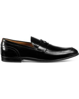 Leather Loafer With Web