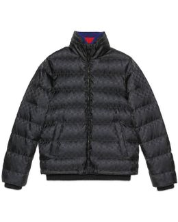 Gg Jacquard Quilted Nylon Jacket
