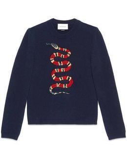 Kingsnake Jacquard Wool Sweater