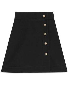 Wool-silk High-waist Skirt