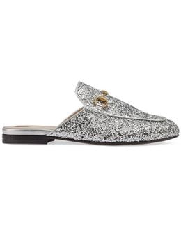 Princetown Glitter Backless Loafer