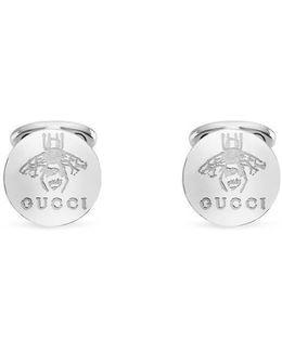 Cufflinks In Silver With Bee