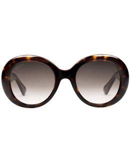 Oval-frame Acetate Sunglasses