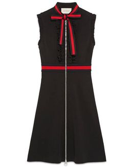 Jersey Dress With Web Trim