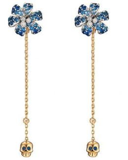 Flora Earrings With Sapphires