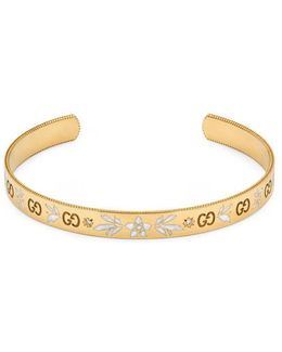 Icon Bracelet In Yellow Gold And Diamonds