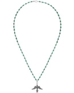 Necklace In Silver And Zirconia